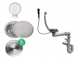 Der automatische Pop-up Raumsparsiphon für Spüle mit verstecktem Überlauf + Abflussdeckel aus Edelstahl